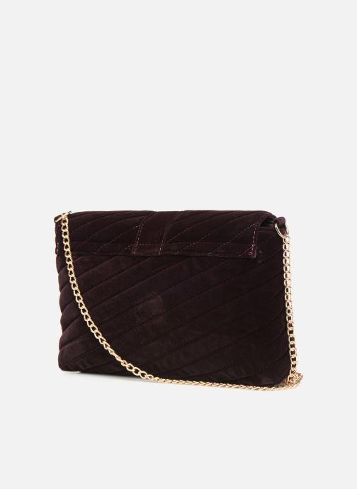 Bolsos de mano Monoprix Femme POCHETTE VELOURS MATELASSEE Violeta      vista lateral derecha