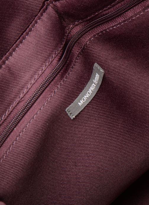 Handbags Monoprix Femme POCHETTE VELOURS MATELASSEE Purple back view