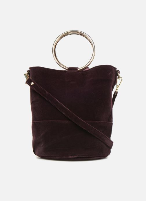 Handbags Monoprix Femme CROSSBODY SEAU VELOURS Purple front view