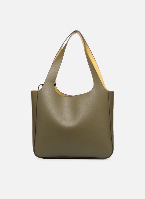 Handtaschen Monoprix Femme CABAS POMPON PU grün ansicht von vorne