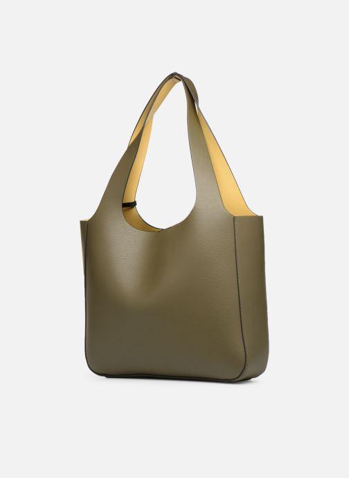 Handtaschen Monoprix Femme CABAS POMPON PU grün ansicht von rechts