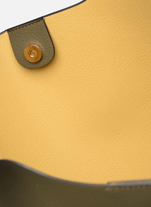 Handtaschen Monoprix Femme CABAS POMPON PU grün ansicht von hinten
