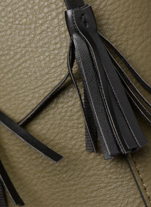 Bolsos de mano Monoprix Femme CABAS POMPON PU Verde vista lateral izquierda