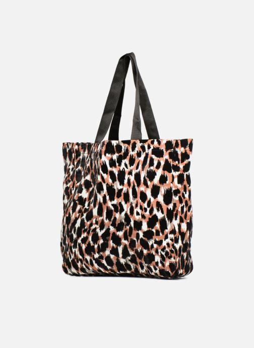 Handtaschen Monoprix Femme TOTE BAG LEOPARD orange schuhe getragen