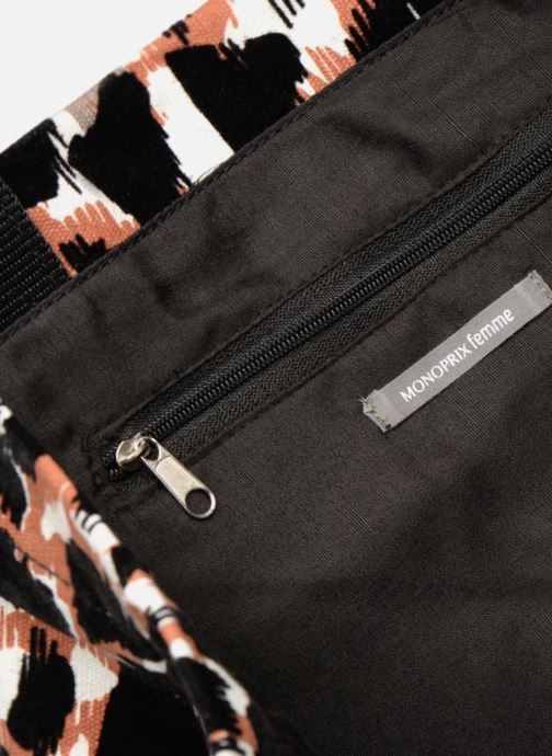 Sacs à main Monoprix Femme TOTE BAG LEOPARD Orange vue derrière