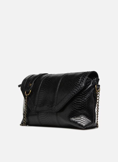 Handtaschen Monoprix Femme POCHETTE PU CROCO schwarz schuhe getragen