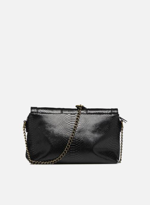 Handtaschen Monoprix Femme POCHETTE PU CROCO schwarz ansicht von vorne