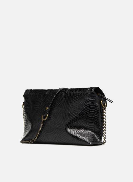 Handtaschen Monoprix Femme POCHETTE PU CROCO schwarz ansicht von rechts