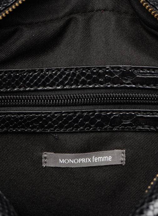 Handtaschen Monoprix Femme POCHETTE PU CROCO schwarz ansicht von hinten