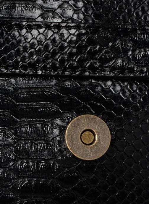 Handtaschen Monoprix Femme POCHETTE PU CROCO schwarz ansicht von links