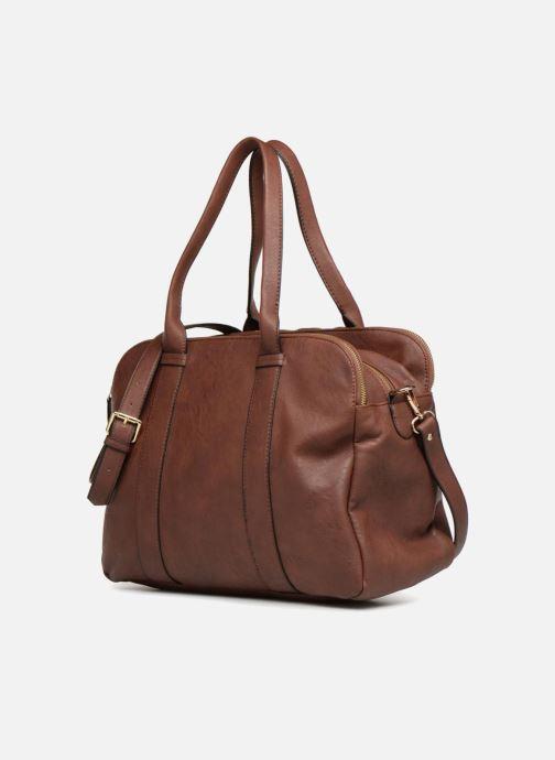 Handtaschen Monoprix Femme SAC 48H PU DOUBLE PORTES braun schuhe getragen