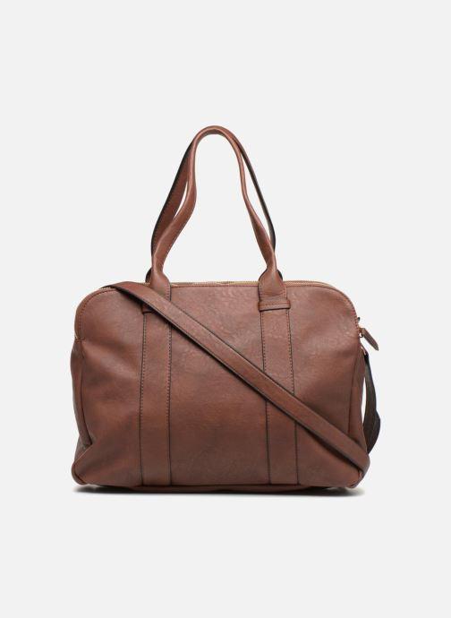 Handtaschen Monoprix Femme SAC 48H PU DOUBLE PORTES braun ansicht von vorne