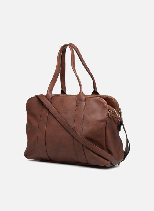 Handtaschen Monoprix Femme SAC 48H PU DOUBLE PORTES braun ansicht von rechts