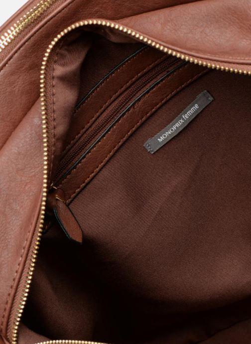 Handtaschen Monoprix Femme SAC 48H PU DOUBLE PORTES braun ansicht von hinten