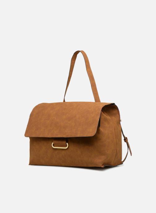Handbags Monoprix Femme CABAS TEXTILE ROUSSE Brown model view