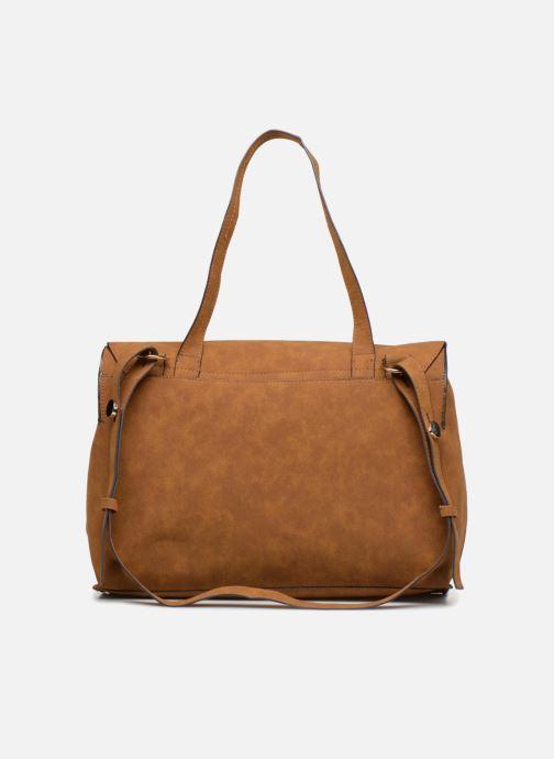 Handbags Monoprix Femme CABAS TEXTILE ROUSSE Brown front view