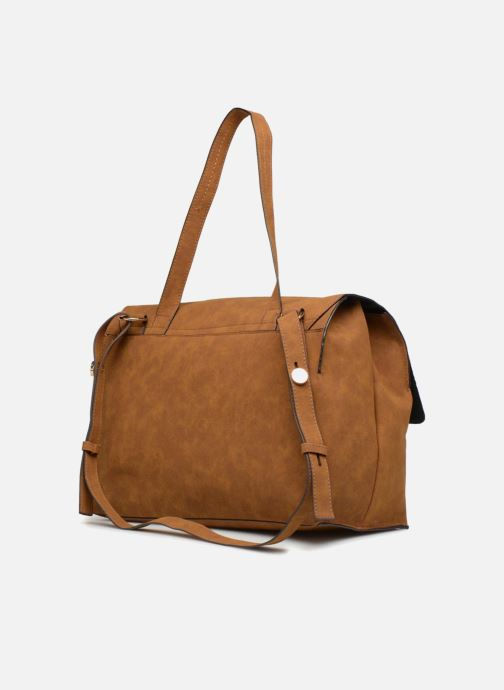Handbags Monoprix Femme CABAS TEXTILE ROUSSE Brown view from the right