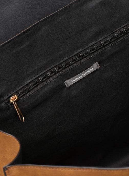 Handbags Monoprix Femme CABAS TEXTILE ROUSSE Brown back view
