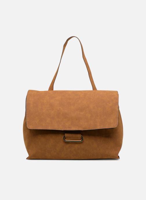 Handbags Monoprix Femme CABAS TEXTILE ROUSSE Brown detailed view/ Pair view