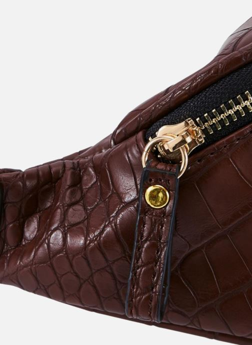 Petite Maroquinerie Monoprix Femme BANANE EFFET PYTHON Marron vue portées chaussures