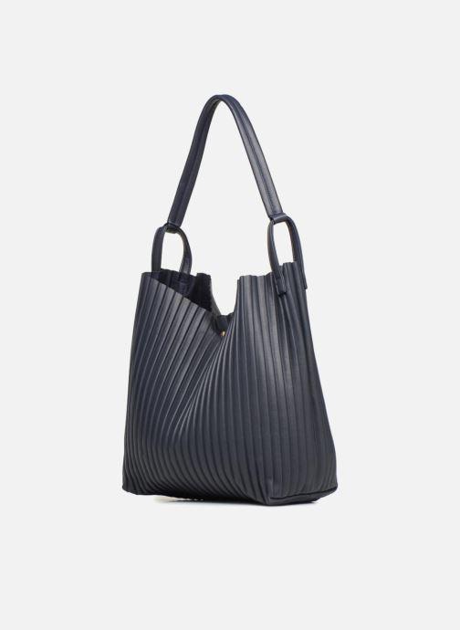 Handtaschen Monoprix Femme CABAS PLISSE blau schuhe getragen