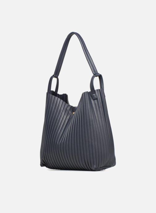 Handtaschen Monoprix Femme CABAS PLISSE blau ansicht von rechts