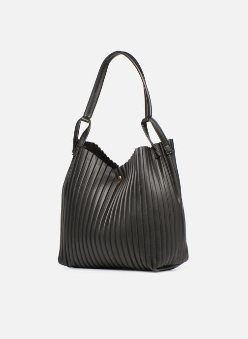 Bolsos de mano Monoprix Femme CABAS PLISSE Negro vista del modelo