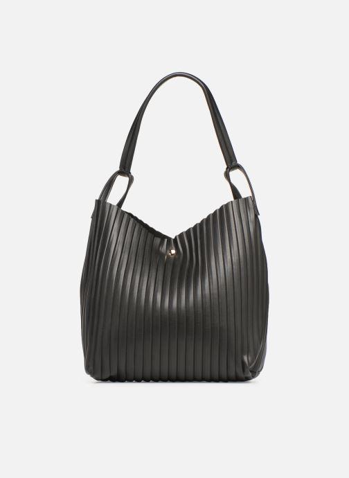 Handtaschen Monoprix Femme CABAS PLISSE schwarz ansicht von vorne