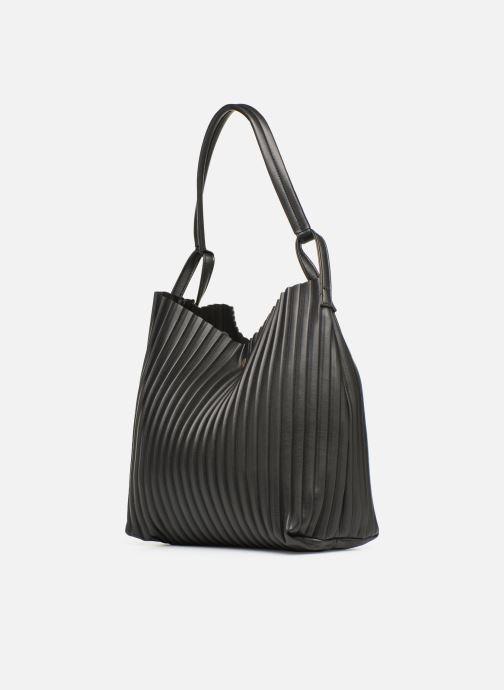 Handtaschen Monoprix Femme CABAS PLISSE schwarz ansicht von rechts