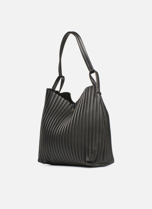 Handbags Monoprix Femme CABAS PLISSE Black view from the right
