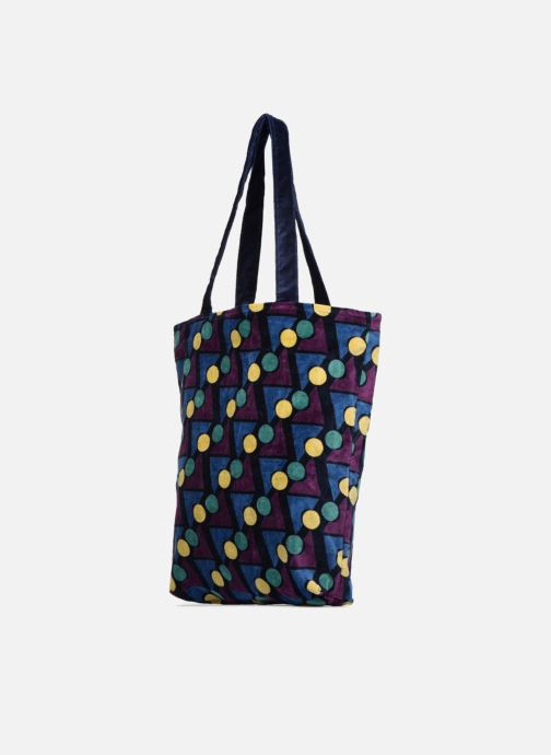 Handtaschen Monoprix Femme TOTE BAG VELOURS GEOMETRIQUE lila schuhe getragen