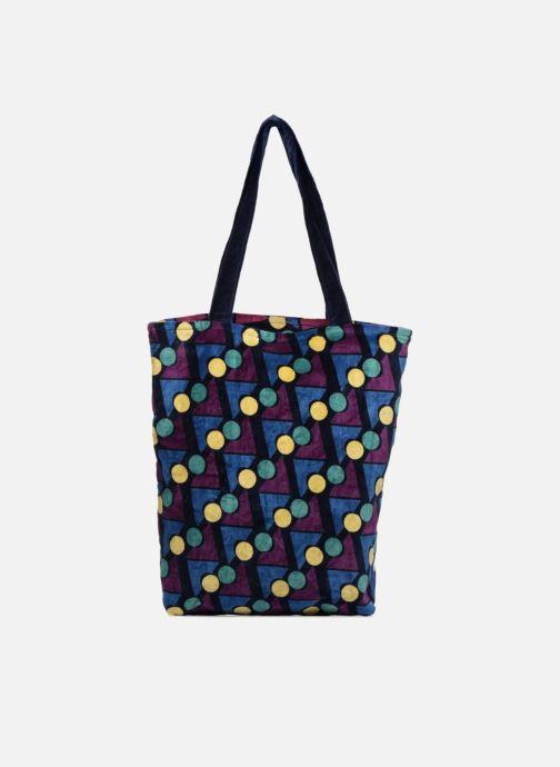 Handtaschen Monoprix Femme TOTE BAG VELOURS GEOMETRIQUE lila ansicht von vorne