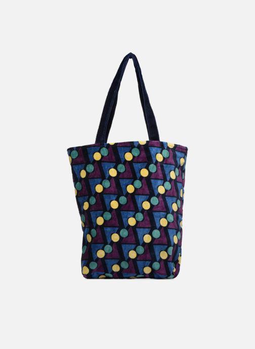 Handtaschen Monoprix Femme TOTE BAG VELOURS GEOMETRIQUE lila detaillierte ansicht/modell
