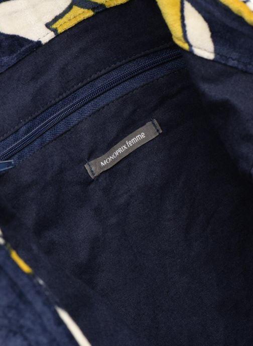 Handtaschen Monoprix Femme TOTE BAG VELOURS FLEURS gelb ansicht von hinten