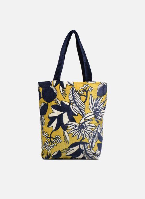 Handtaschen Monoprix Femme TOTE BAG VELOURS FLEURS gelb detaillierte ansicht/modell