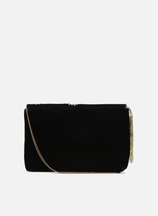 Handtaschen Monoprix Femme POCHETTE VELOURS SCARAB schwarz ansicht von vorne