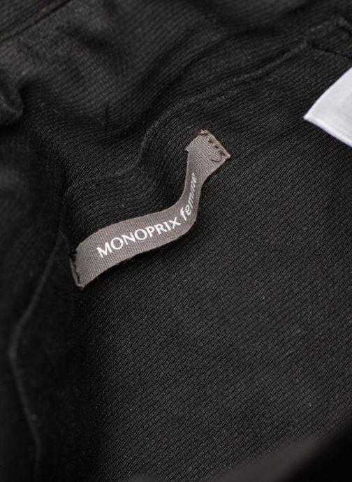 Handtaschen Monoprix Femme POCHETTE VELOURS SCARAB schwarz ansicht von hinten