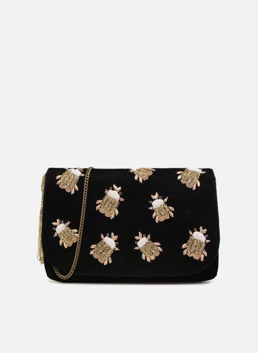 Handtaschen Monoprix Femme POCHETTE VELOURS SCARAB schwarz detaillierte ansicht/modell