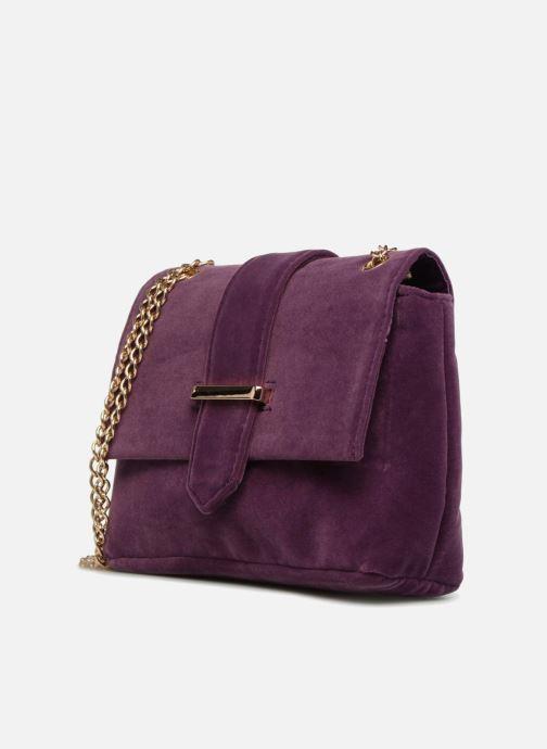 Sacs à main Monoprix Femme POCHETTE MINI VELOURS Violet vue portées chaussures