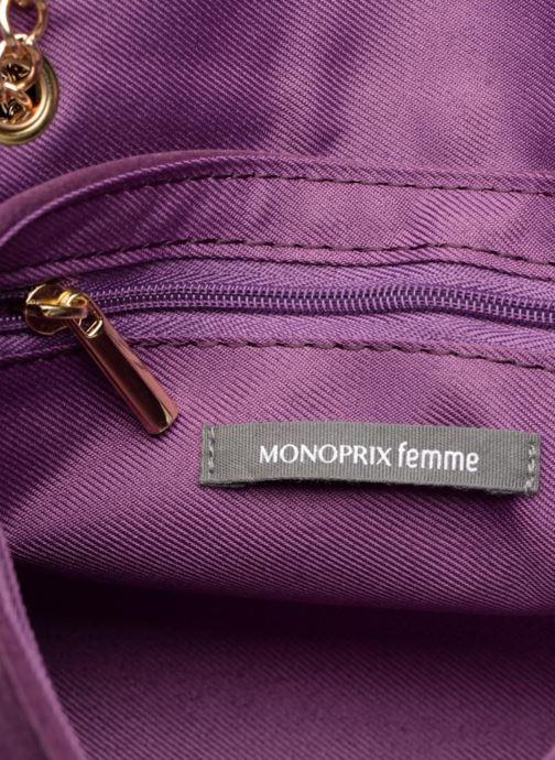 Sacs à main Monoprix Femme POCHETTE MINI VELOURS Violet vue derrière