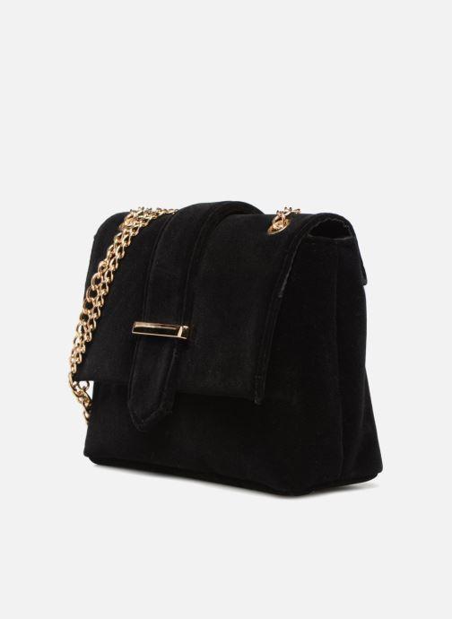 Borse Monoprix Femme POCHETTE MINI VELOURS Nero modello indossato