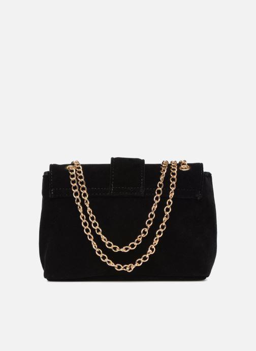 Handtaschen Monoprix Femme POCHETTE MINI VELOURS schwarz ansicht von vorne