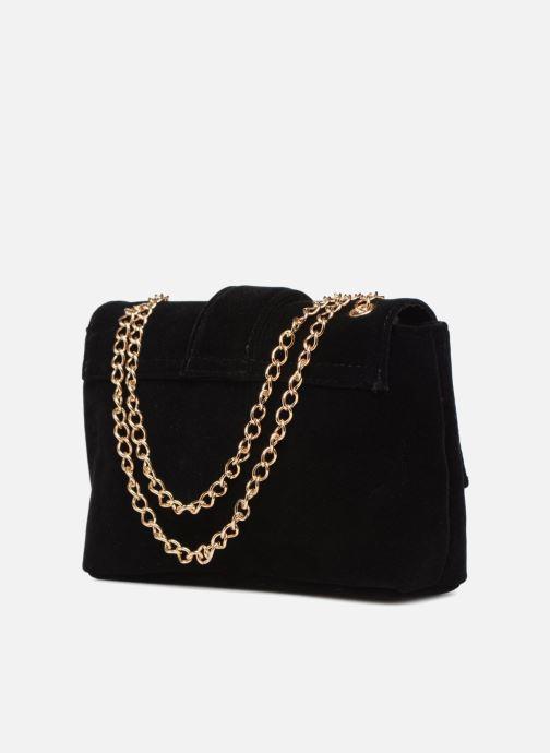 Handtaschen Monoprix Femme POCHETTE MINI VELOURS schwarz ansicht von rechts
