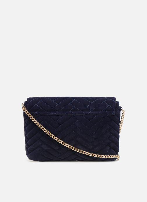 Handtassen Monoprix Femme POCHETTE VELOURS MATELASSEE ZIGZAG Blauw voorkant