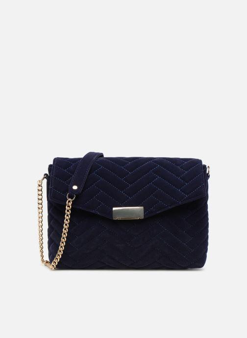 Bolsos de mano Monoprix Femme POCHETTE VELOURS MATELASSEE ZIGZAG Azul vista de detalle / par