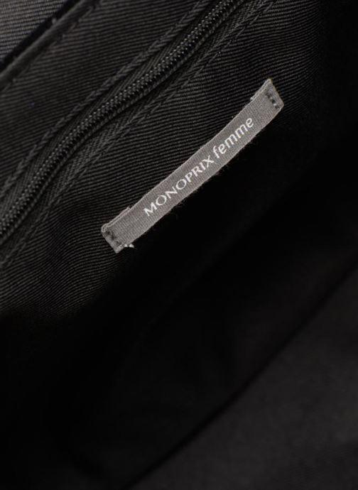 Handbags Monoprix Femme POCHETTE VELOURS MATELASSEE ZIGZAG Black back view