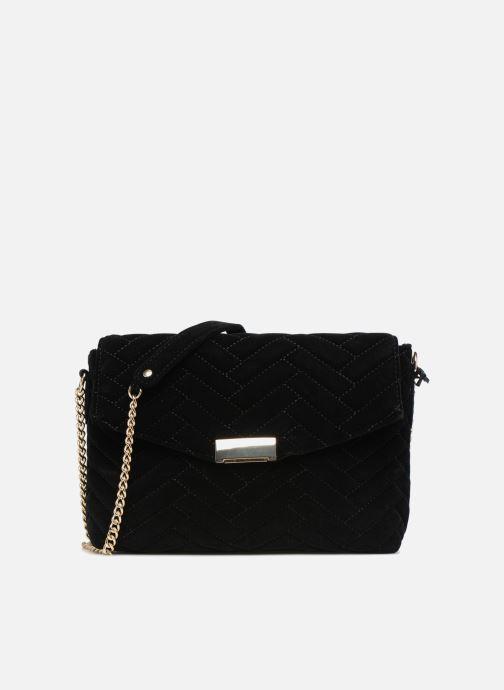 Handtaschen Monoprix Femme POCHETTE VELOURS MATELASSEE ZIGZAG schwarz detaillierte ansicht/modell
