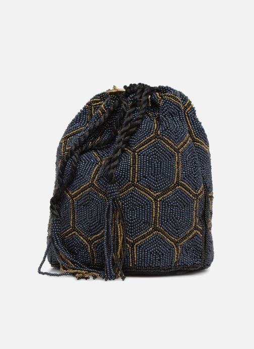 Bolsos de mano Monoprix Femme POCHETTE SEAU PERLES NOIR Negro vista del modelo