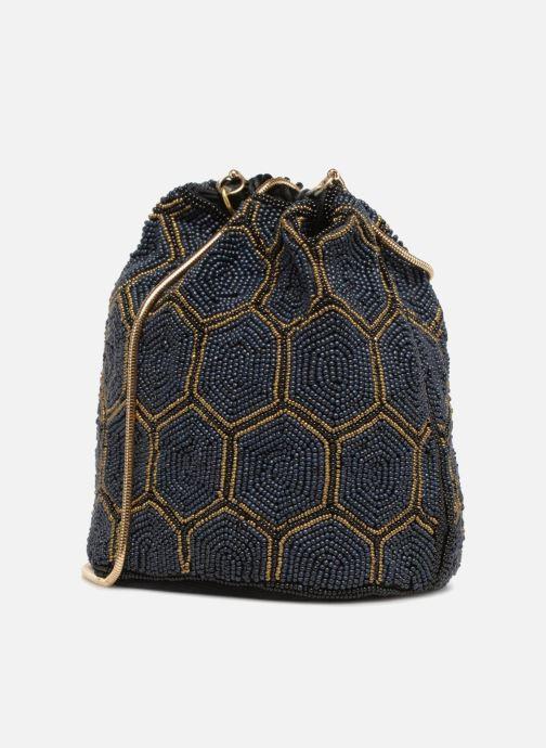 Bolsos de mano Monoprix Femme POCHETTE SEAU PERLES NOIR Negro vista lateral derecha