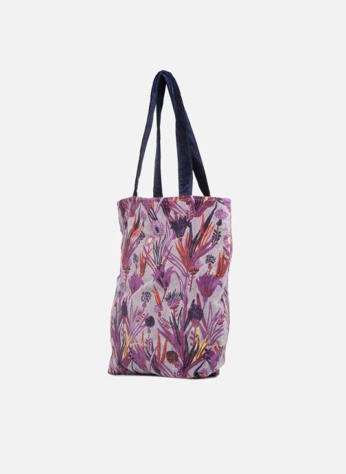Bolsos de mano Monoprix Femme TOTE BAG AOP CHARDON Violeta      vista del modelo